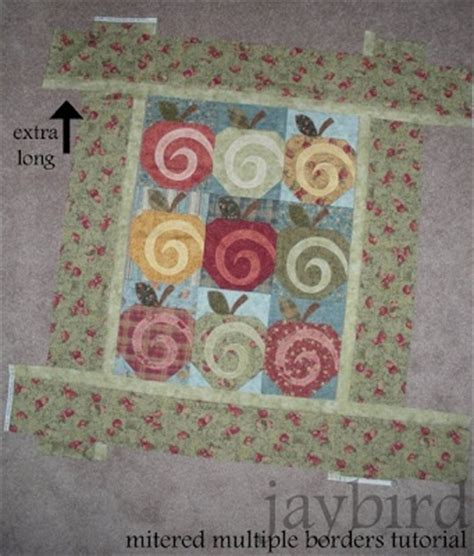 Mitred Corners On Quilt Borders by Mitered Borders Tutorial Quilting Basics
