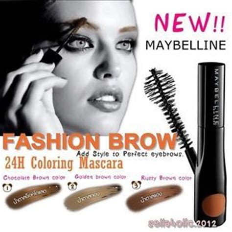 Maybelline Fashion Brow 24hr Coloring Mascara details about new maybelline fashion brow 24h coloring