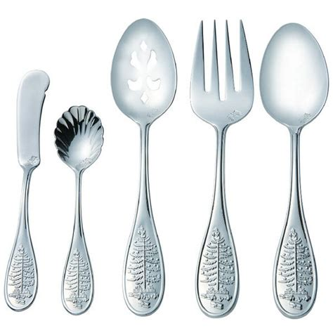 spode christmas tree stainless steel flatware silverware