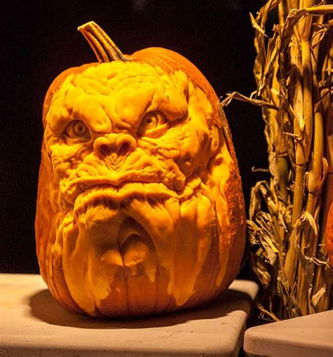 Halloween Pumpkins Designs - this talented man makes the scariest pumpkin carvings you ll ever see
