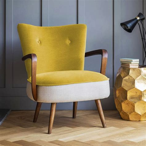 yellow velvet armchair 25 best ideas about armchairs on pinterest kate la vie