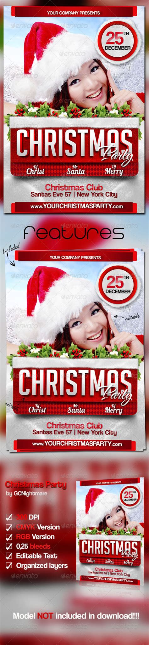 template flyer graphicriver print template graphicriver christmas party flyer