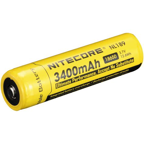 Nitecore 18650 Rechargeable Li Ion Battery 3400mah 3 7v Nl1834 nitecore 18650 li ion rechargeable battery 3 7v 3400mah nl189