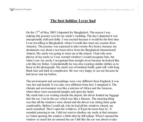 The Best Essay the best i had gcse marked by teachers