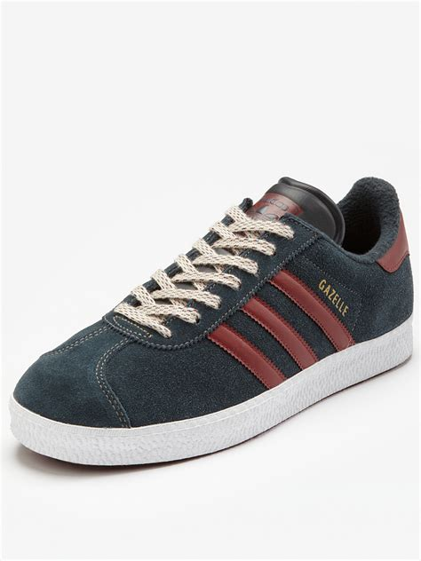 Adidas Gazele Suede adidas gazelle ii suede trainers in for navy