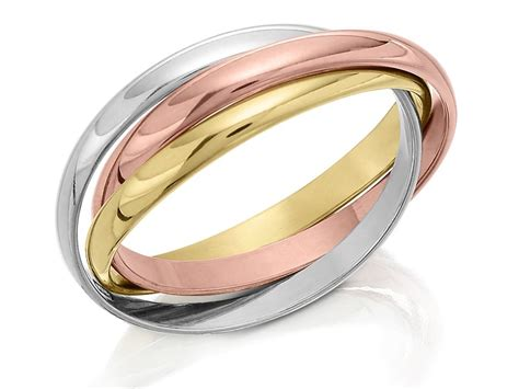9ct three colour gold russian wedding ring 2mm r1754