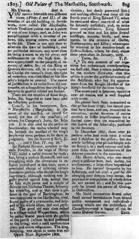 Gentleman S Agreement Letter File Letter To Gentleman S Magazine 8 September 1803 About The Marshalsea Jpg