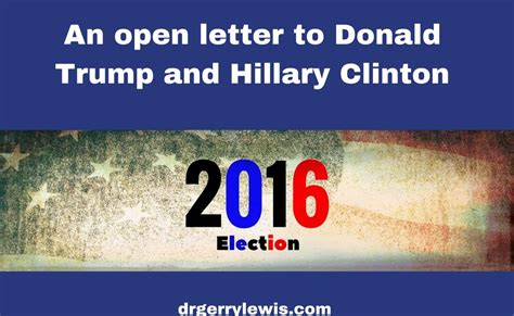 an atheists open letter to those praying for his son an open letter to donald trump and hillary clinton dr
