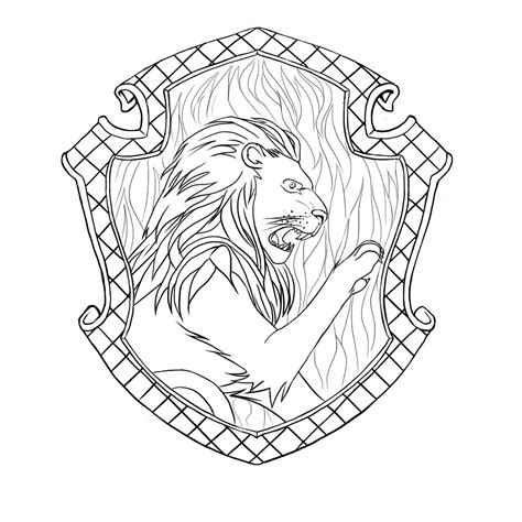 gryffindor badge coloring page coloring pages