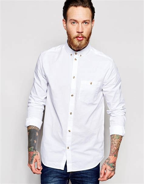 Volcom Bad News Chh Original lyst weekday bad times regular fit shirt in white for