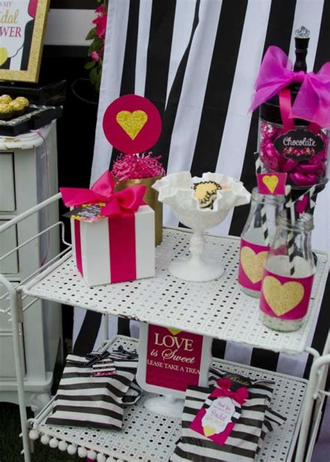 bridal shower decoration ideas black and white modern black and white striped bridal shower bridal shower ideas themes