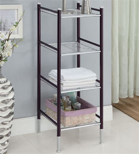 bathroom tower shelf 4 tier bathroom tower in bathroom shelves