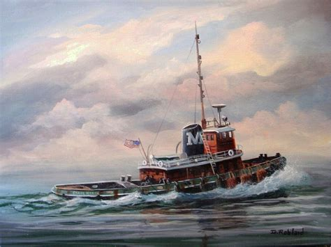 tugboat painting tug boat painting www topsimages