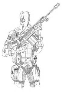 printable deathstroke coloring pages arkham origins coloring tone
