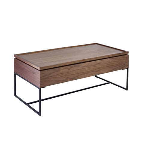 Large Storage Coffee Table Trim Lift Up Large Storage Coffee Table Walnut Dwell