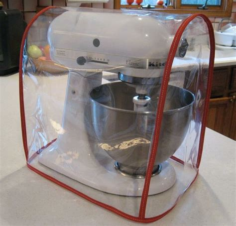 red gingham appliance cover fits kitchen aid mixers clear mixer cover fits kitchenaid tilt head red trim 4