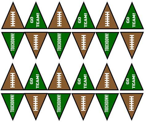 printable football banner how to make a supreme snack stadium