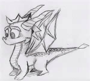 Spyro the dragon sketch by otto720 fan art traditional art drawings