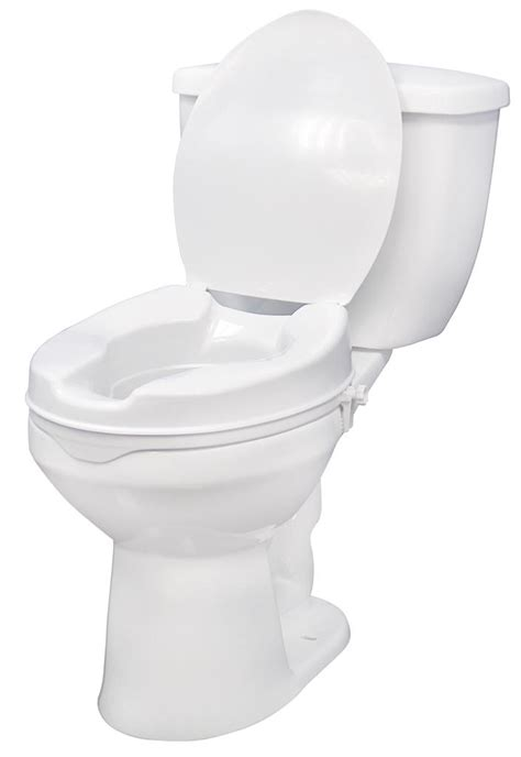 heavy duty elevated toilet seat drive raised toilet seat with lock and