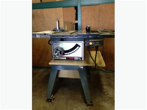 craftsman table saw casters craftsman 10 quot cast iron tablesaw saanich