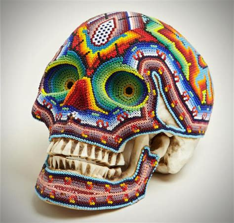colorful beaded skulls by our exquisite corpse hiconsumption
