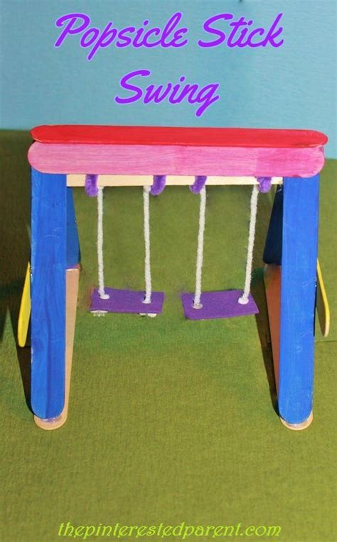 swing craft popsicle stick swing the pinterested parent