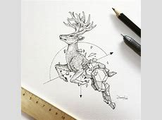 Abstract Geometric Animal Illustrations By Kerby Rosanes ... Geometric Animal Art