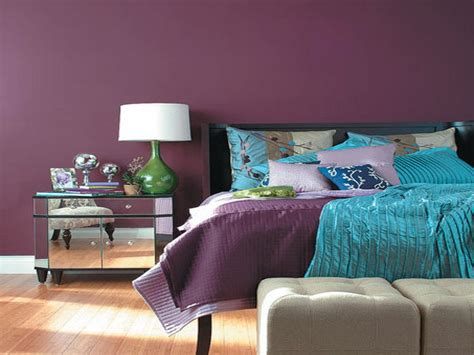 dark purple wall color  bedroom wall color purple