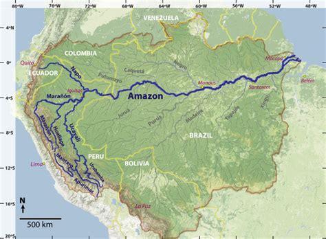 south america map basin