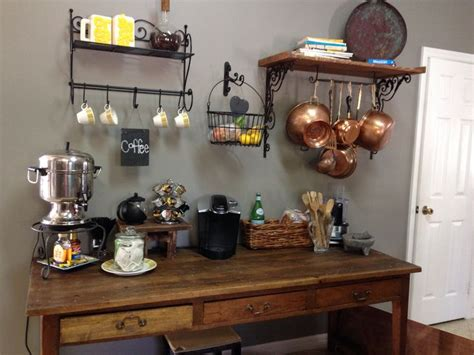 kitchen coffee bar ideas rustic kitchen coffee bar love the wooden shelf with