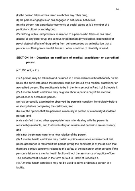 section 24 mental health act accredited persons under the mental health act 2007 in the