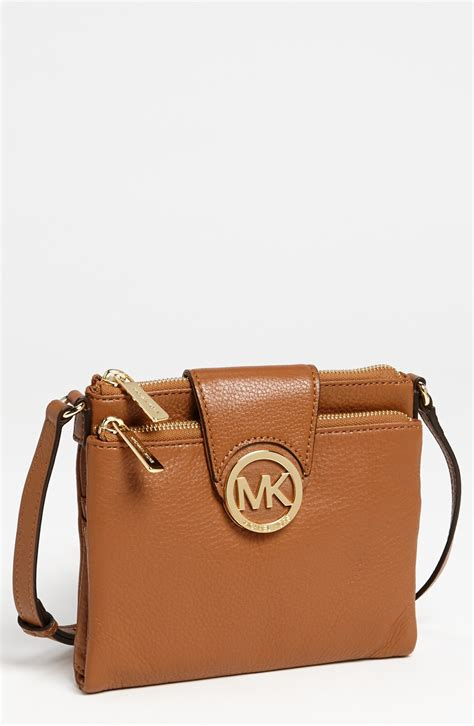 Michael Kors Fulton Lunggage michael michael kors fulton large crossbody bag in brown luggage lyst