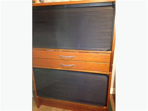 Wood Roll Up Cabinet Doors Wood Cabinet With Roll Doors Saanich