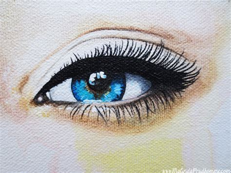 acrylic painting eye malinda prud homme a mixed media artist s seeing
