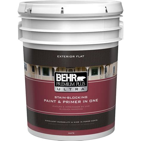 home depot paint exterior behr premium plus ultra 5 gal ultra white flat