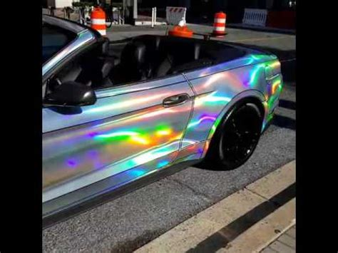 2015 mustang gt convertible holographic chrome wrap youtube