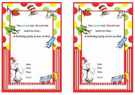 free dr seuss invitation templates free printable dr seuss birthday invitations