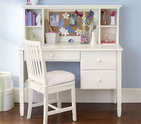 Girls Bedroom Ideas With Small White Study Desk And Chair White Study Desk