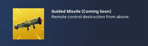 fortnite guided missile fortnite guided missile coming in next battle royale update