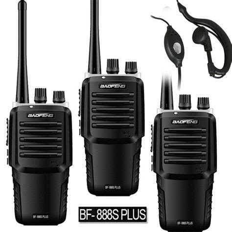 Ht Baofeng Bf 888s Uhf By Sp Shop 3 x 2018 model baofeng bf 888s plus uhf 400 470mhz