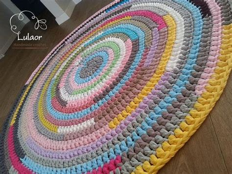 how to crochet a rug with fabric crochet rug made of high quality t shirt yarn cotton fabric in many colors for cleaning i