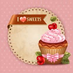 Cupcake Invitations Template by Cupcakes Vector Invitation Cards 01 Vector Card