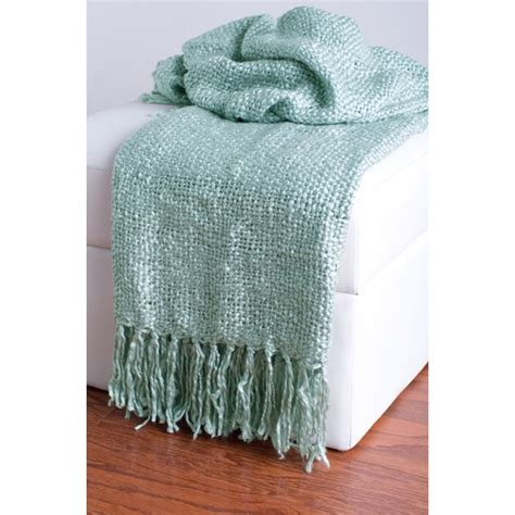 light blue throw blanket light blue loom woven throw by rizz ubu