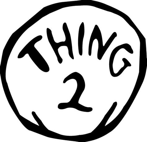 thing 1 and 2 coloring sheets coloring pages