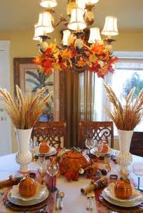 Fall Table Settings Beautiful Wheat Centerpiece With Pumpkin Tureens