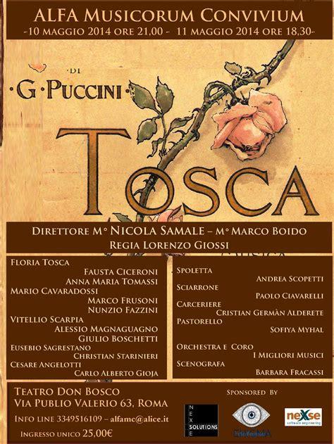 Chanelly Tosca 4 In 1 la tosca di giacomo puccini dal 9 al 21maggio 2014 al