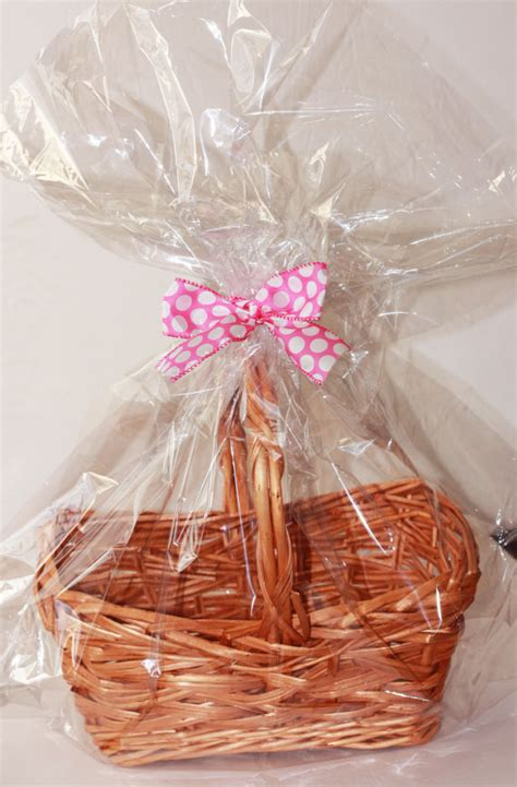 clear plastic cellophane basket gift wrap bag by - Gift Plastic Wrap