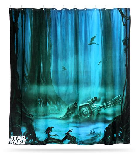 wars dagobah shower curtain thinkgeek