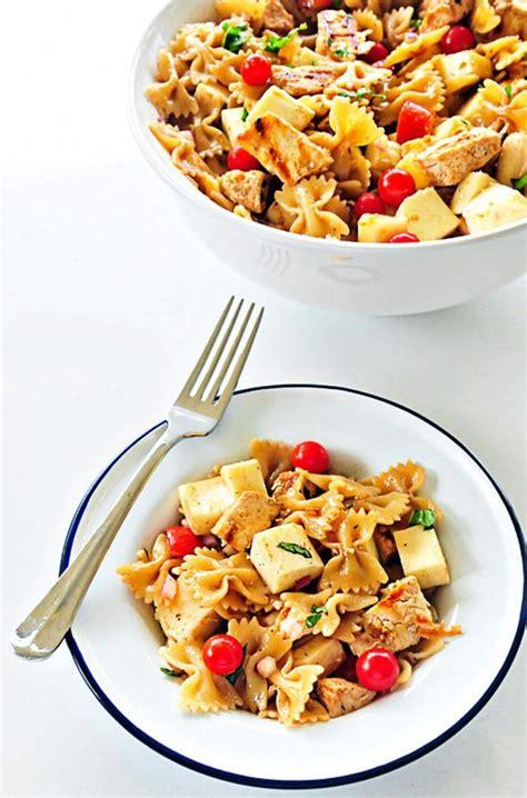puttanesca pasta salad delicious either hot or cold chicken caprese pasta salad recipe add a pinch
