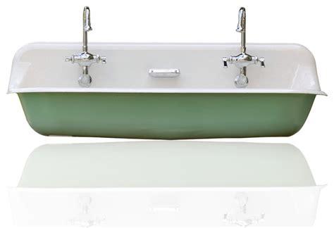 cast iron trough sink large 48 quot kohler farm sink cast iron porcelain trough sink